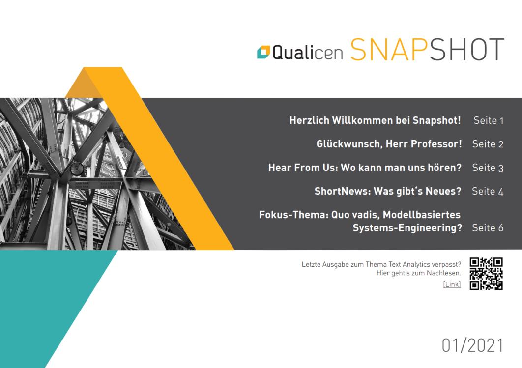 Qualicen Snapshot – Edition 1/2021 [in German]